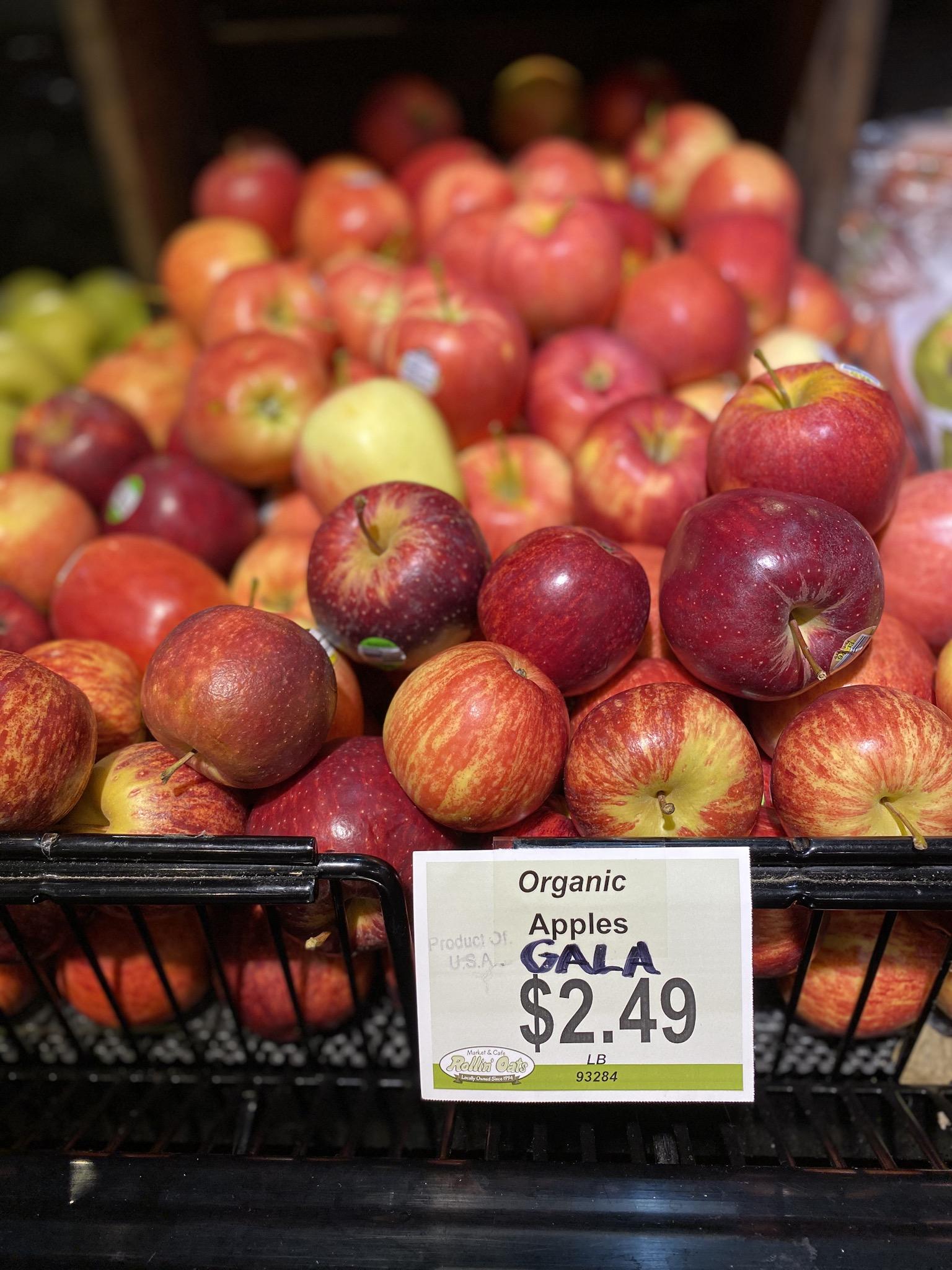 Organic Gala Apples at Rollin' Oats