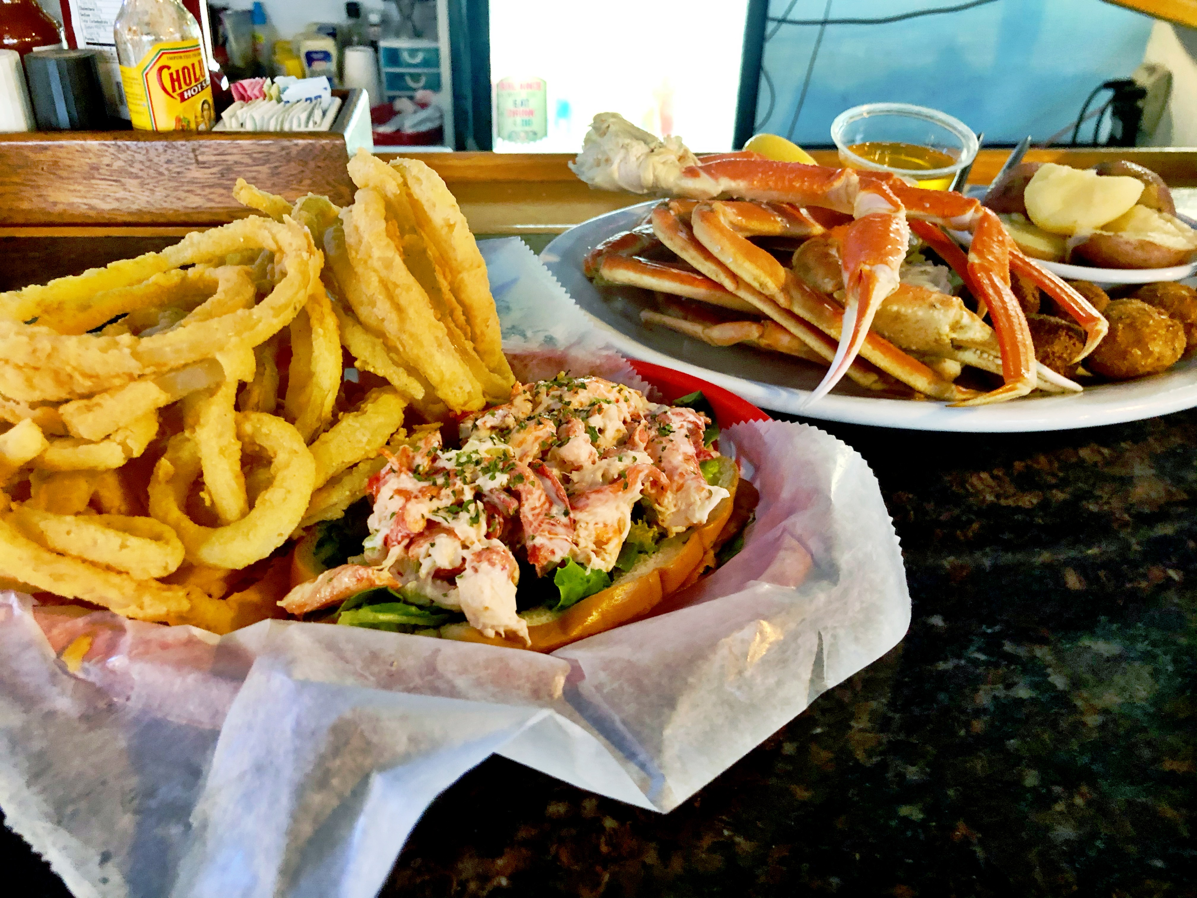 Lobster Roll and Crab Legs at Casual Clam
