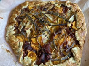 Sweet Potato, Prosciutto and Apple Galette