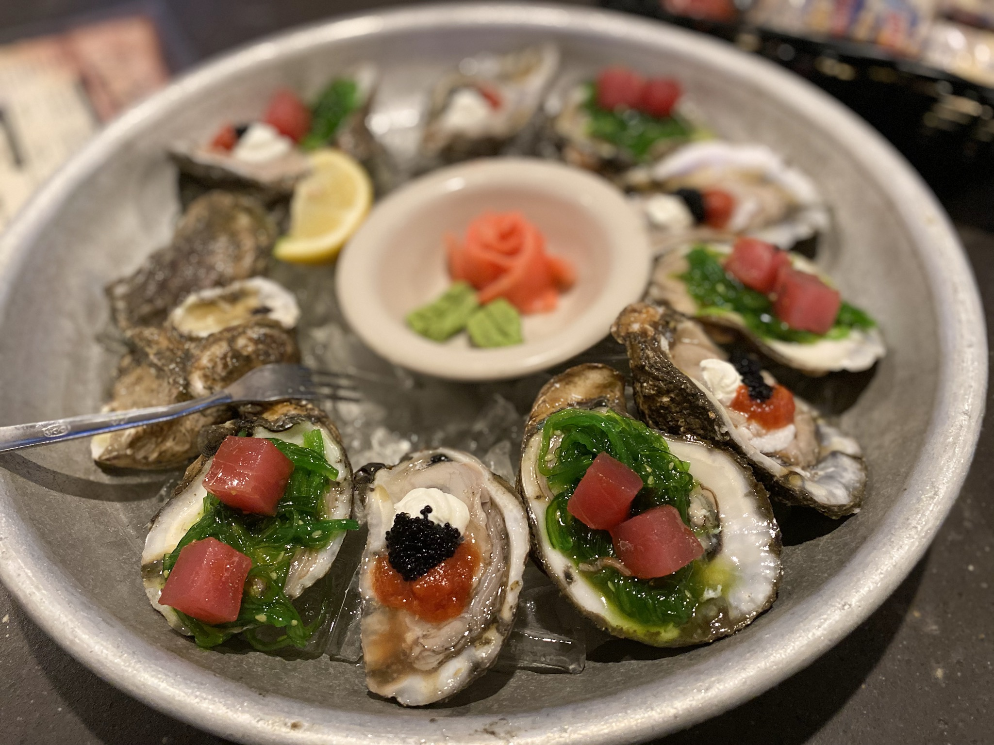 The Moscow and Sushi Oysters