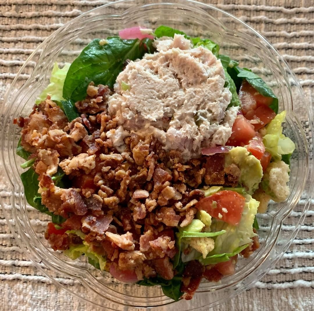 BLAT Salad with Fresh Tuna Salad Added