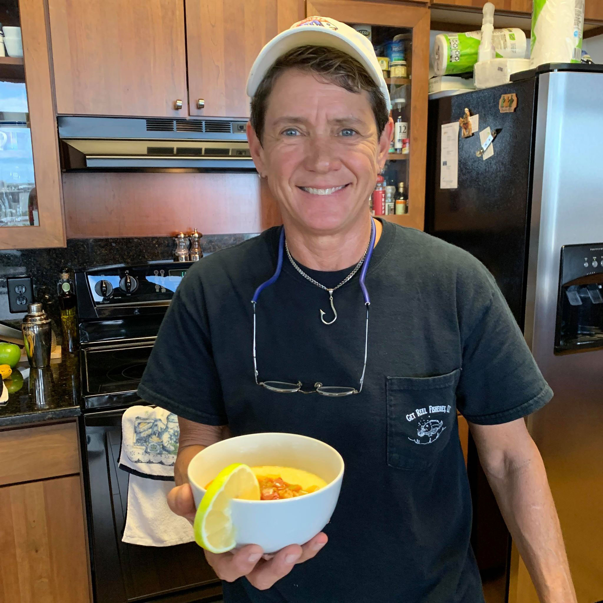 Margaret Covello of Fishmonger Approved Cooked and Served up the Drunken Lobster 'n Grits During the St. Petersburg Foodies Podcast Episode 63