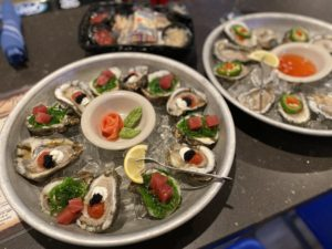 The Moscow and Sushi Oysters from The Island Grille and Raw Bar