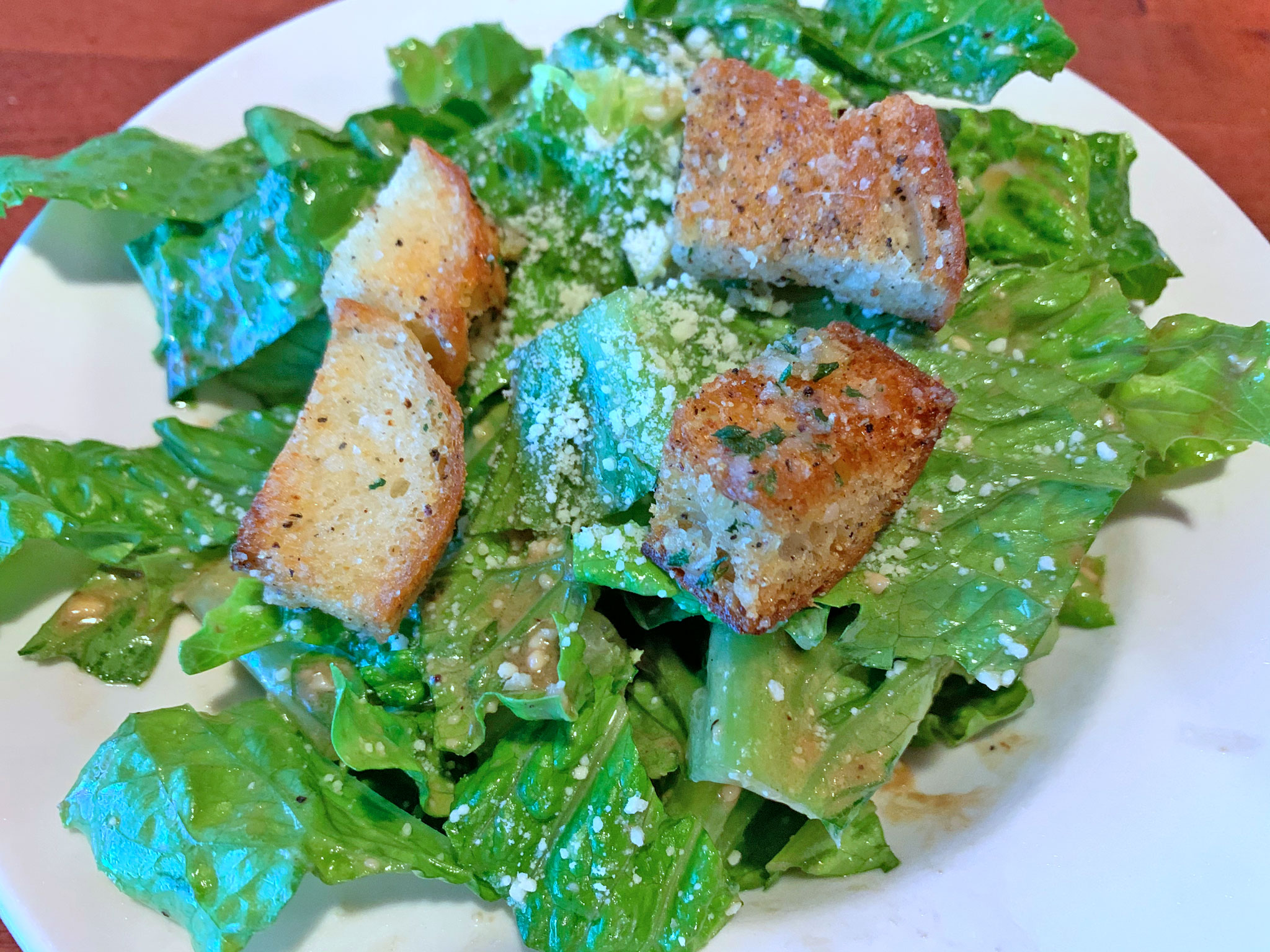Caesar Salad with Great Homemade Rustic Croutons