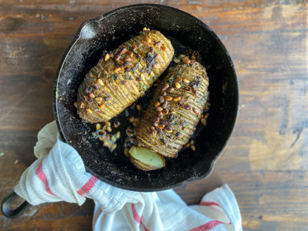 Hasselback Potatoes with Herb Butter