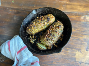 Hasselback Potatoes with Herb Butter overview