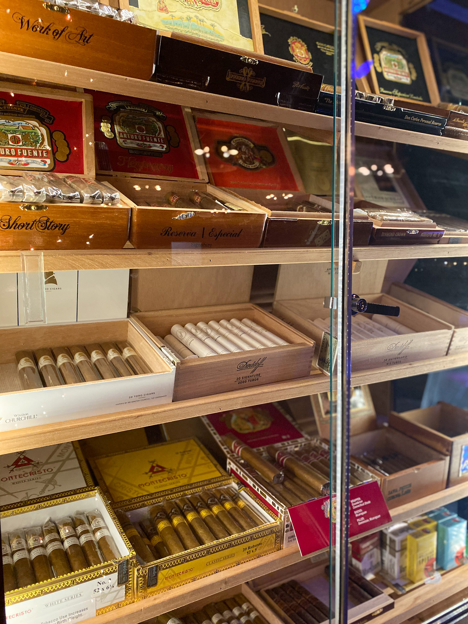 Cigars available on the Dram side