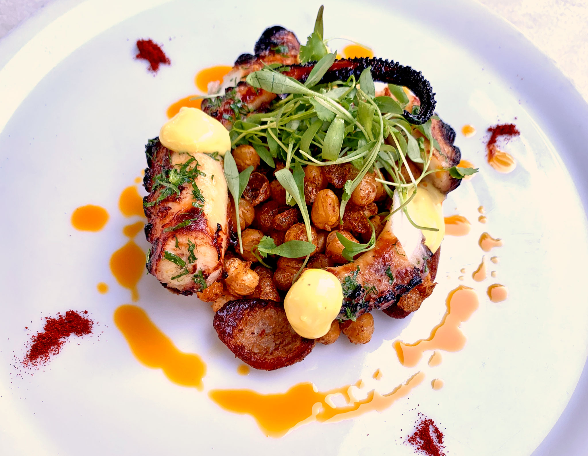Cassis Grilled Octopus