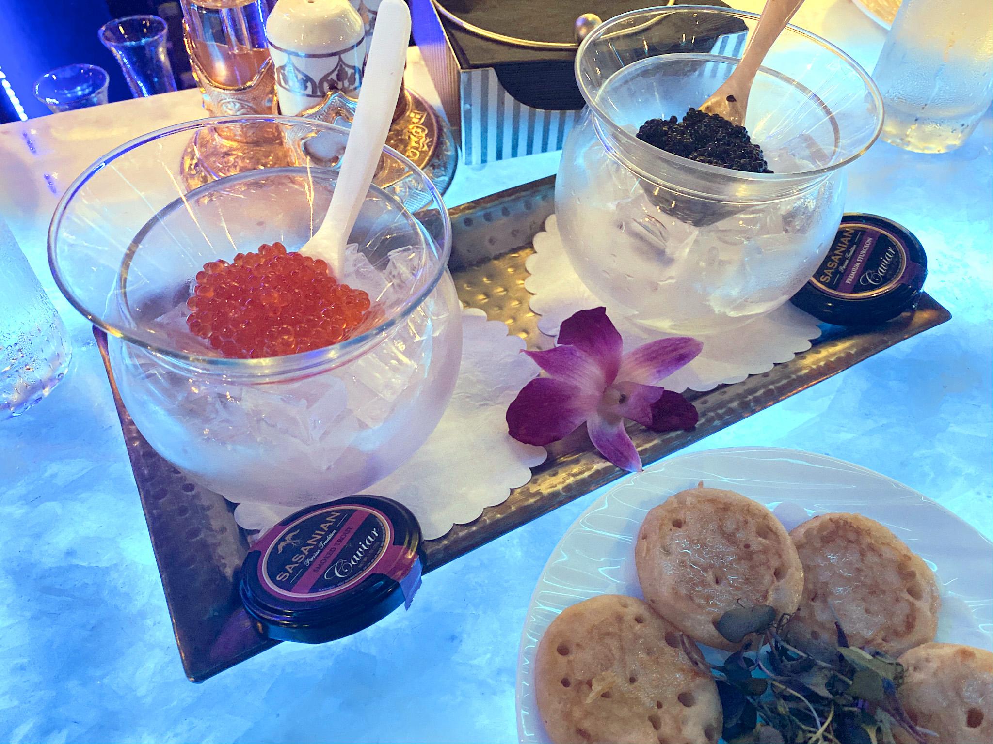 Flute and Dram Caviar