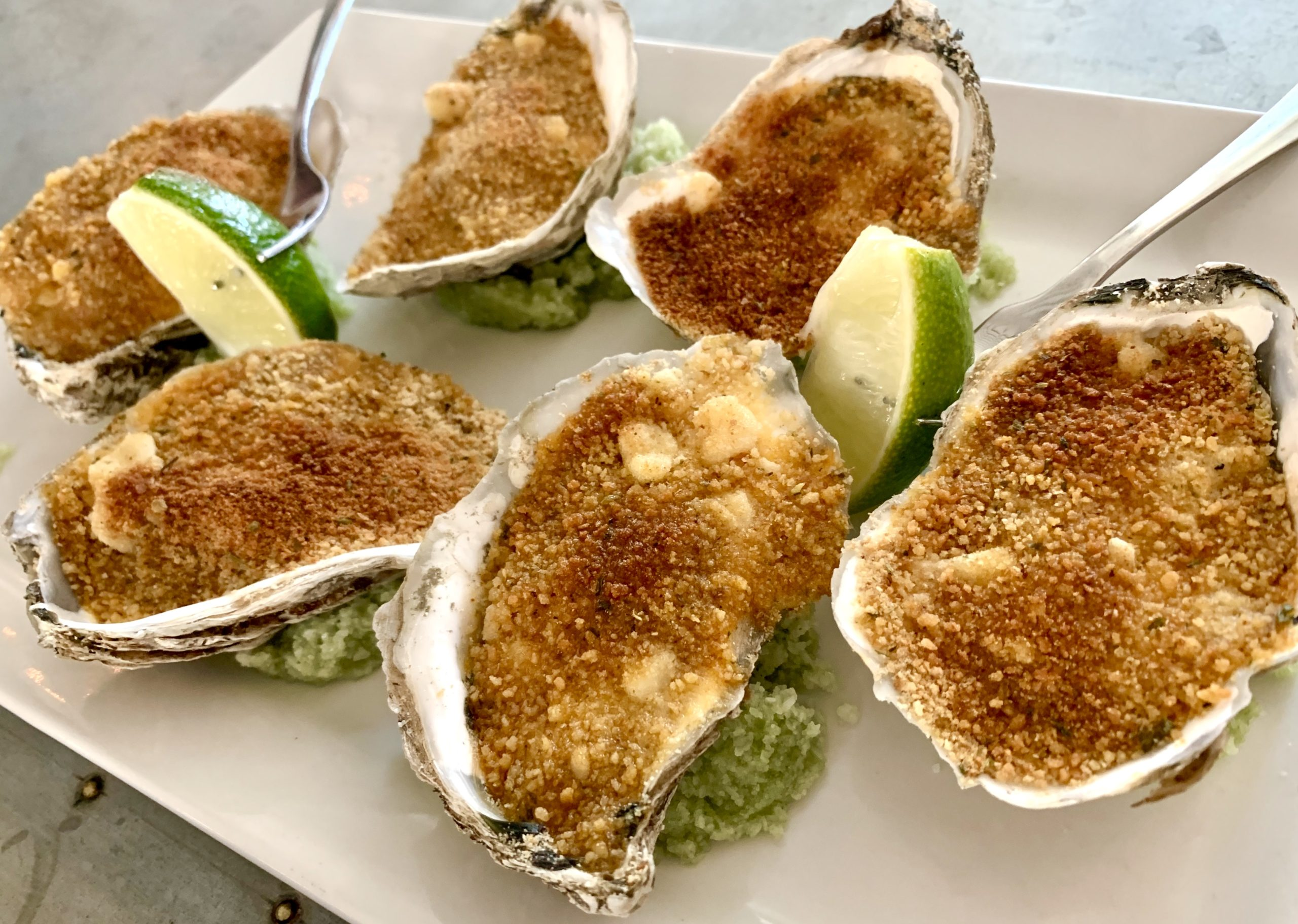The Dewey Harissa Butter Roasted Market Oysters