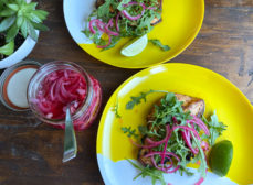 Citrus Paprika Chicken Paillard with Quick Pickled Onions Recipe