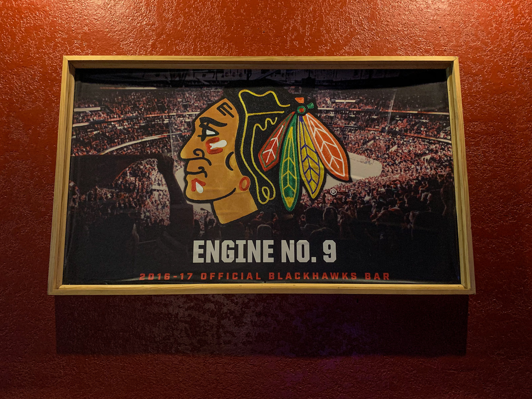 Blackhawks bar signage