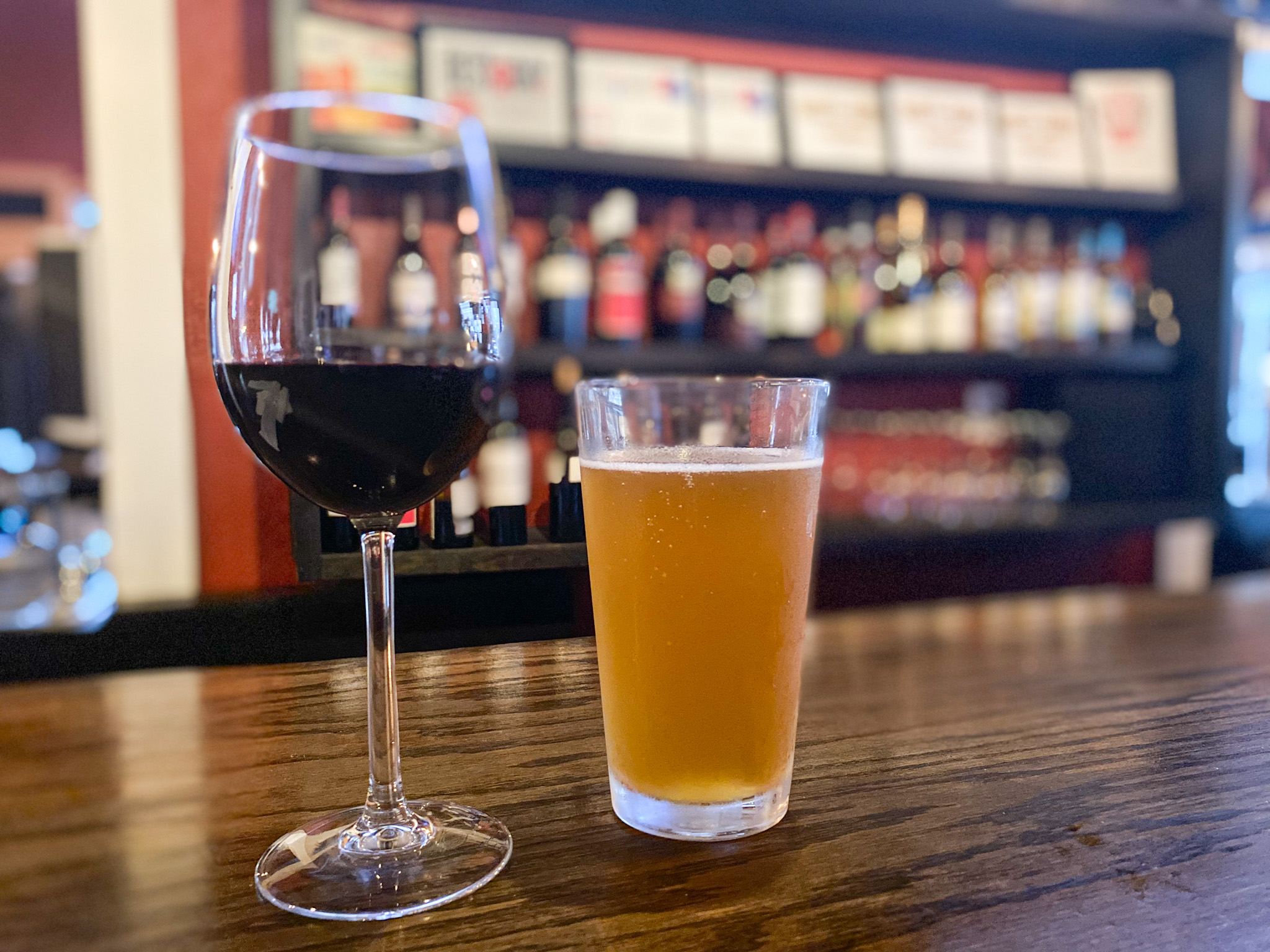 Austin Hope Troublemaker Red Blend & Mike's Tangerine Wheat Beer