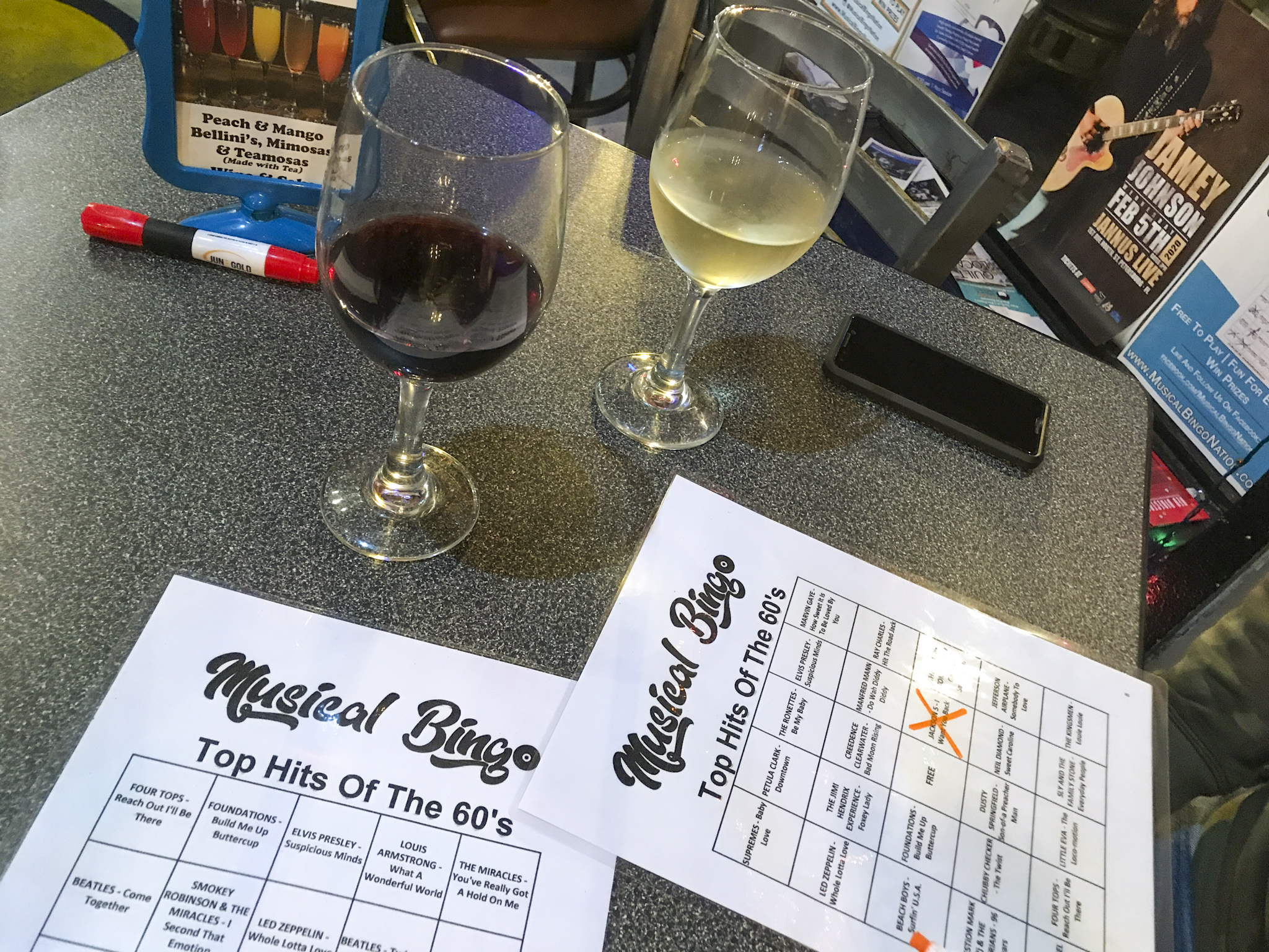 Music Bingo and Wine