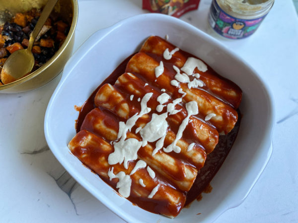Enchiladas pre-oven