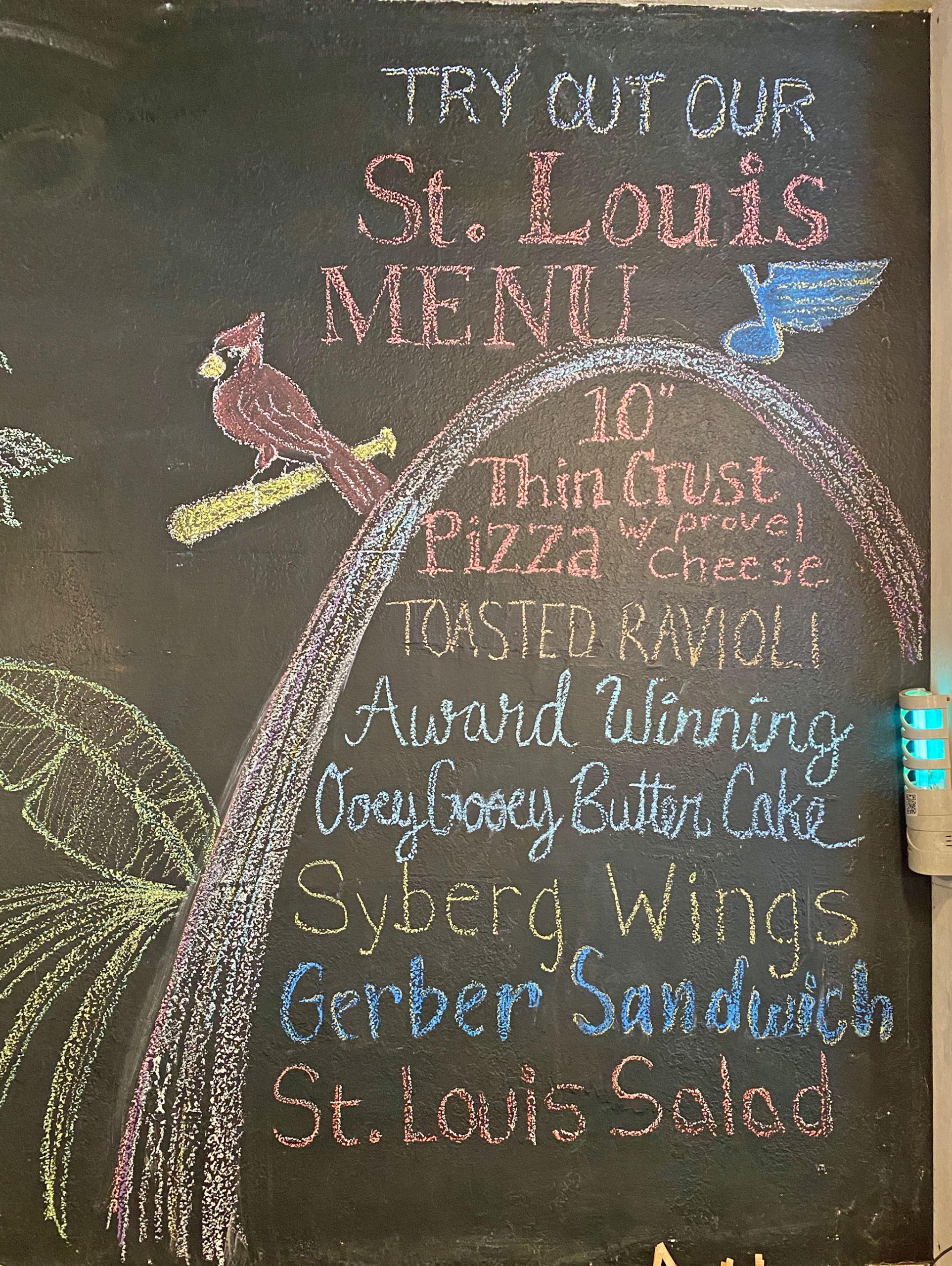 St. Louis Menu