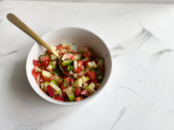 Strawberry-Tomato Salsa Ingredients