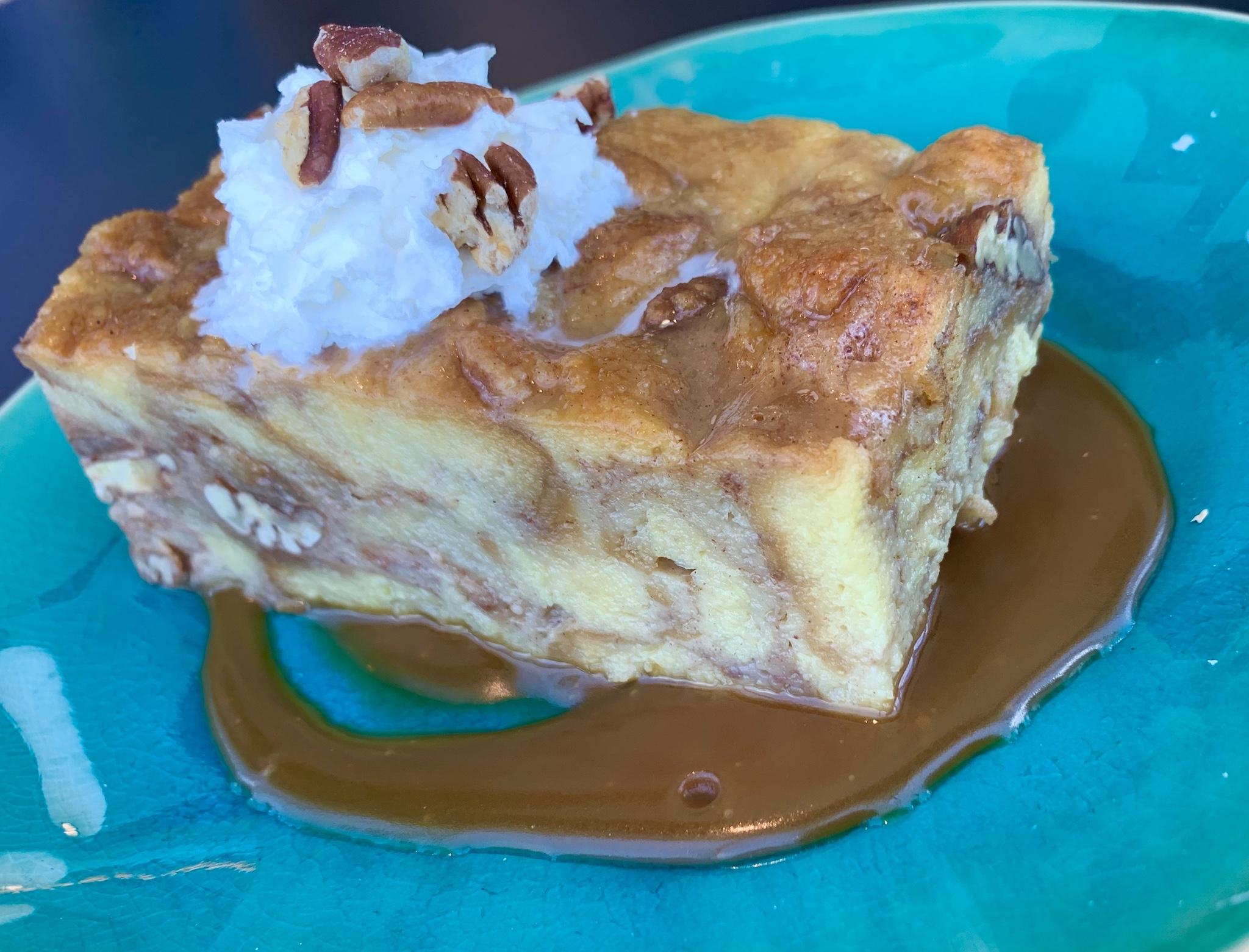 Pecan Pie Bread Pudding - brioche bread, Florida citrus custard, toasted pecans and a bourbon caramel finish.