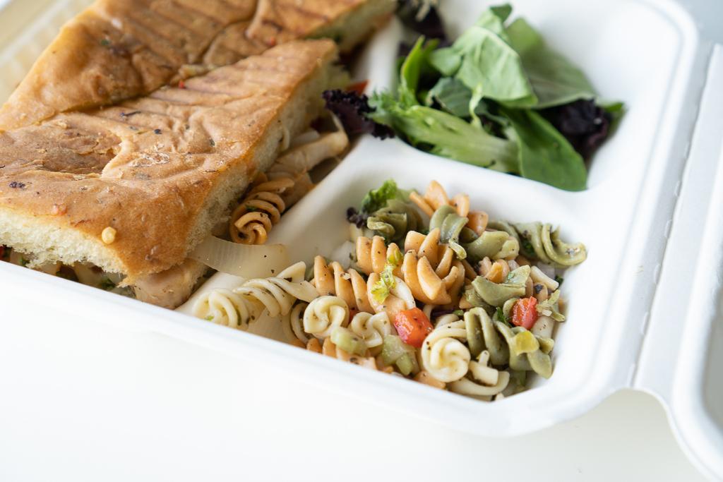 Side Salad and Side Pasta Salad