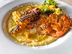 Smoked tomato Shrimp and Grits