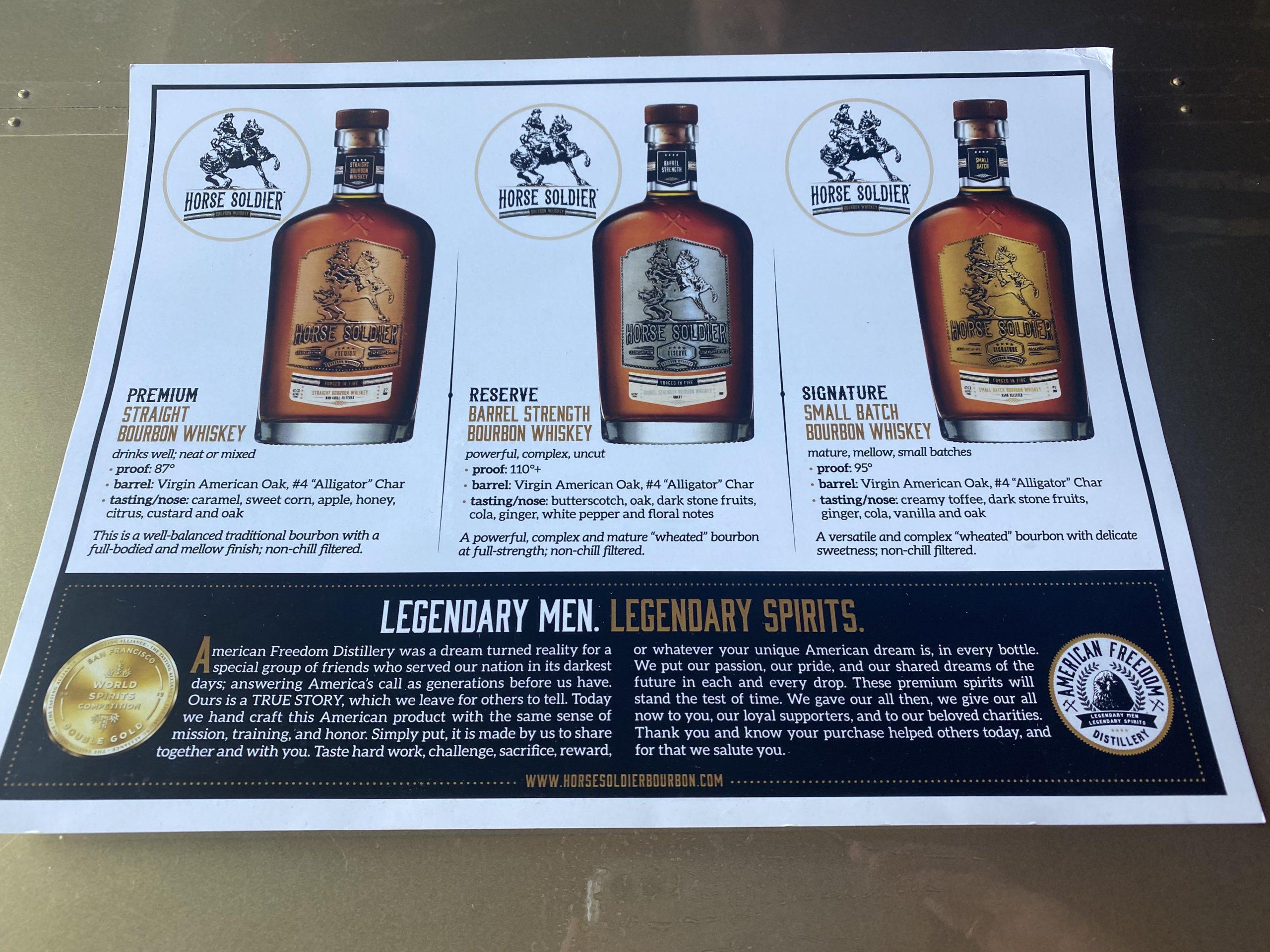 Horse Soldier Bourbon Tasting Flight