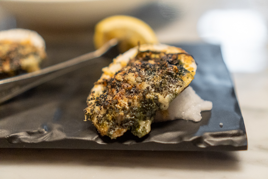 The Urban Stillhouse Broiled Gulf Oysters