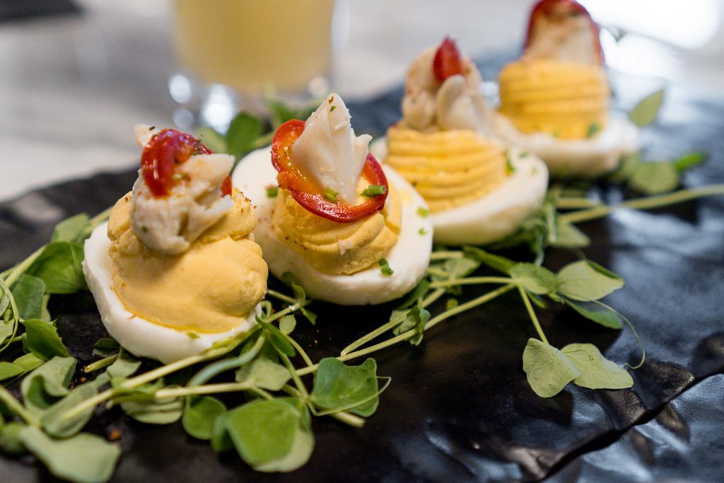 The Urban Stillhouse Deviled Crab Stuffed Eggs