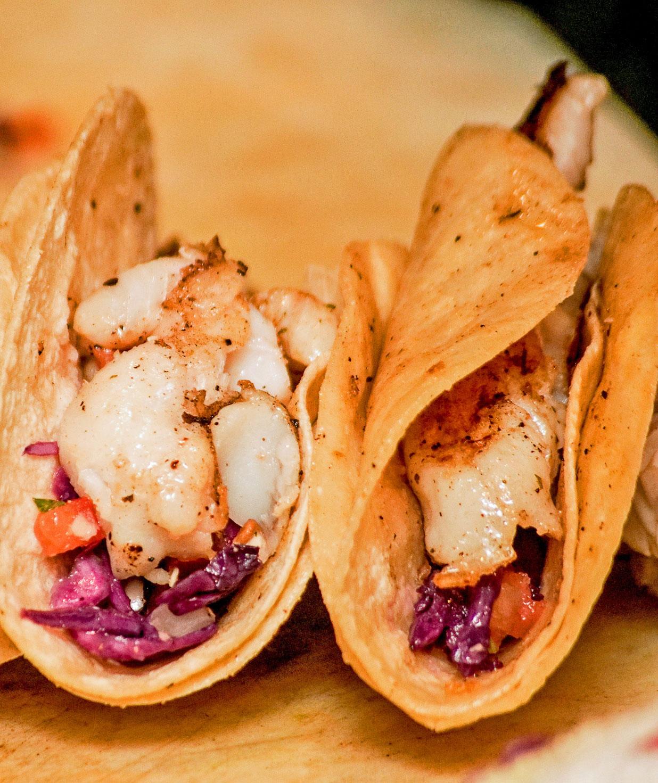 Nueva Cantina Shrimp and Pescado Tacos
