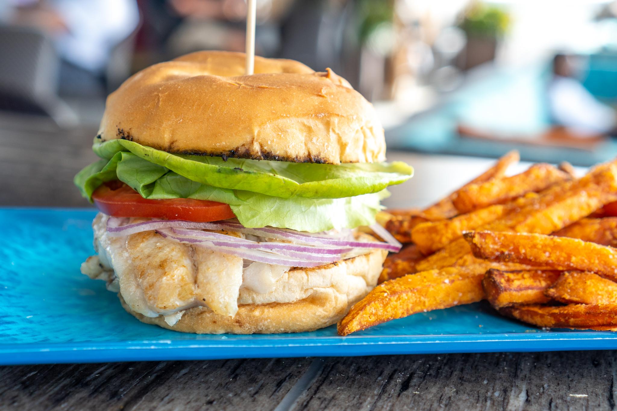Pier Teaki Grouper Sandwich