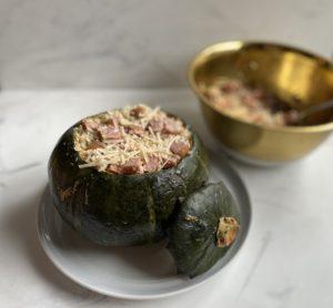 Stuffed squash, pre oven