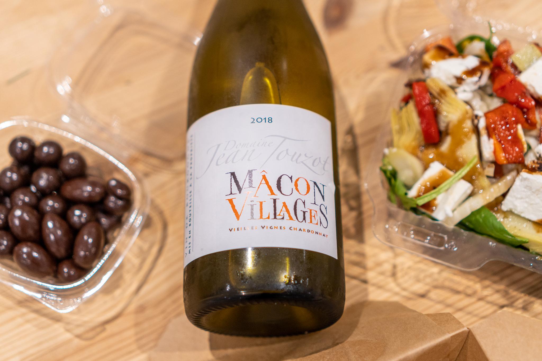 Must Wine Loft Chocolates, Chardonnay, and Vegetable Man Salad