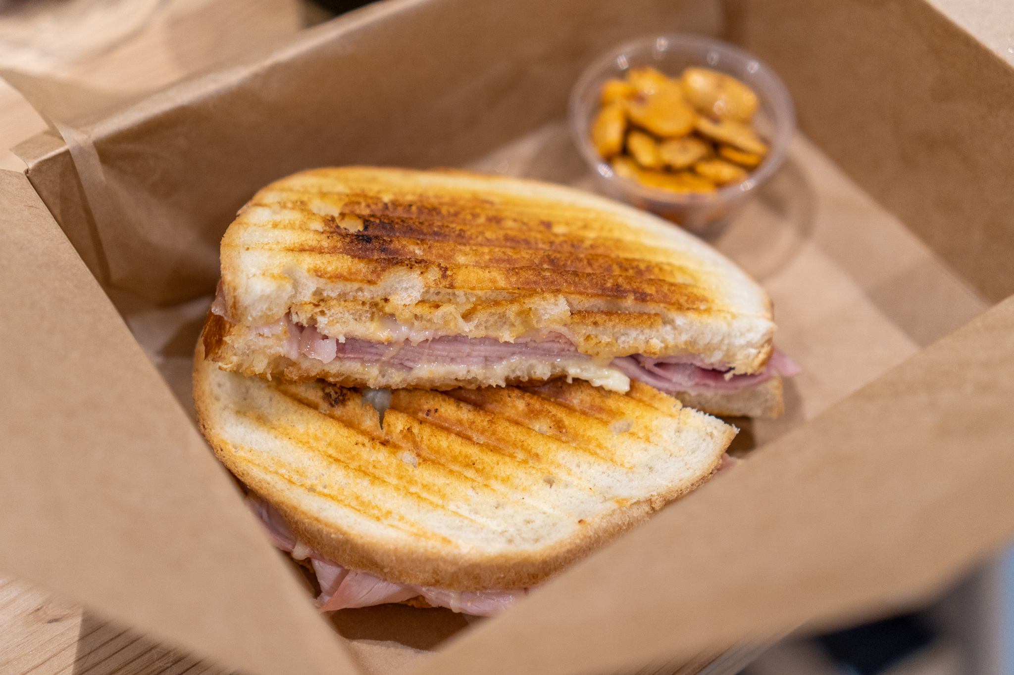 Must Wine Loft Daily Panini: Truffle Ham, Dijon Mustard, Cheese