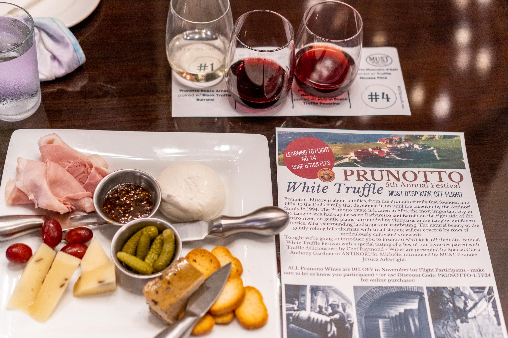 Must Wine Loft Wine and Cheese Flight Pairing