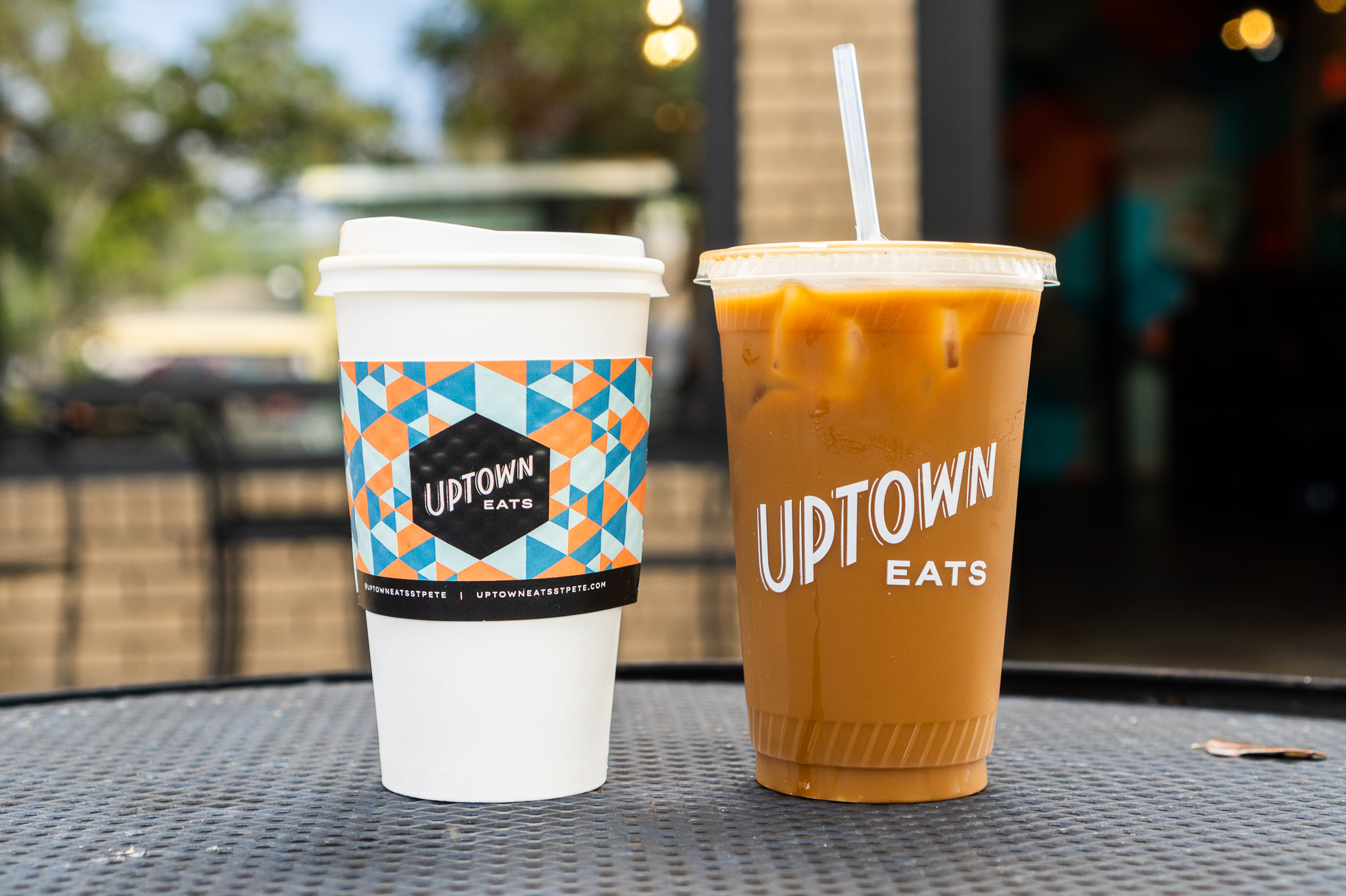 Uptown Eats Black Coffee and Iced Coffee