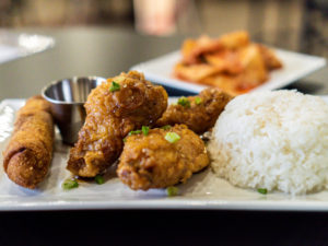 ANJU Jumbo Wings Sweet Soy Garlic Sauce and Sticky Rice