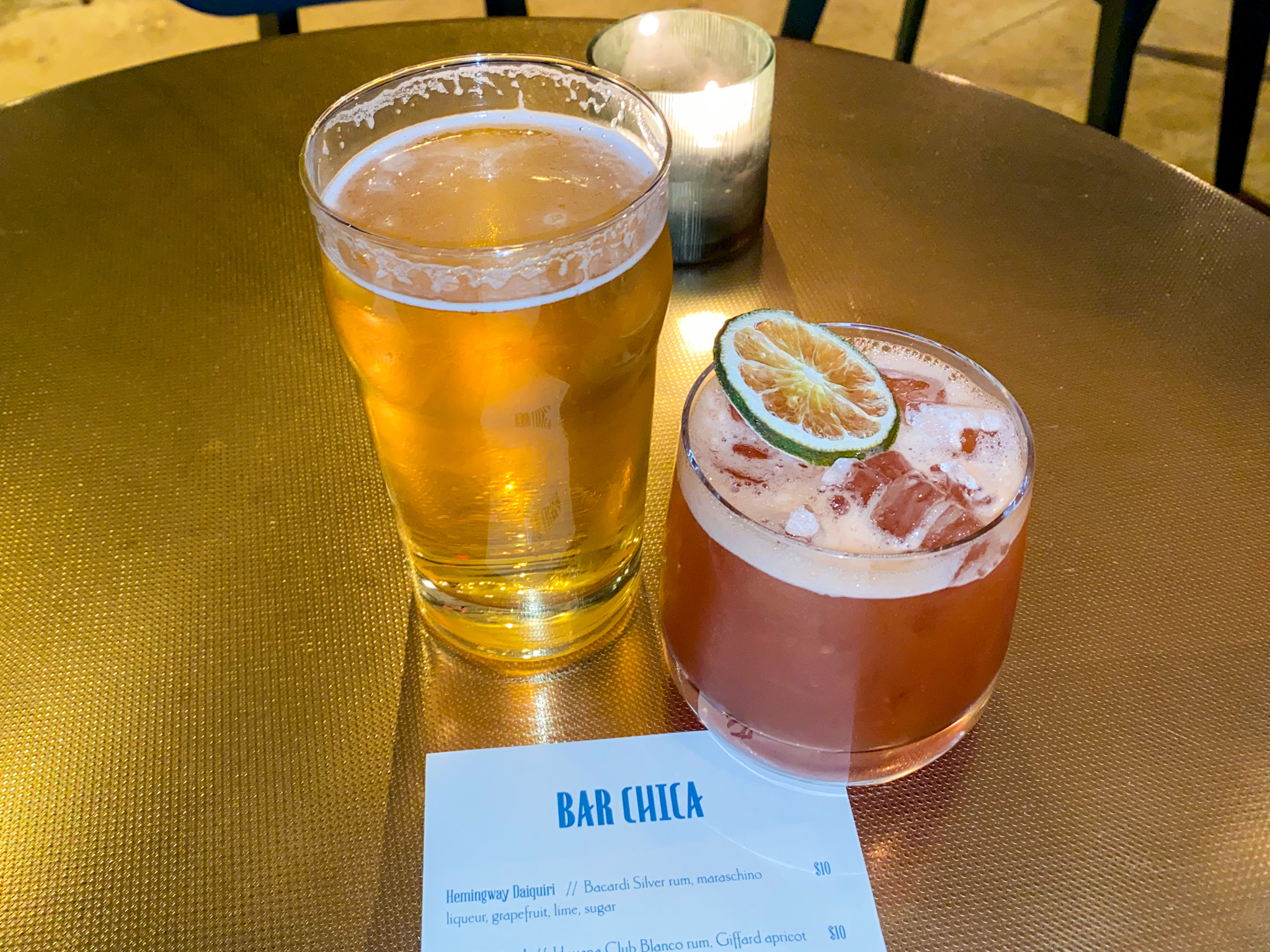 Bar Chica Pilsner and Firing Squad Cocktail