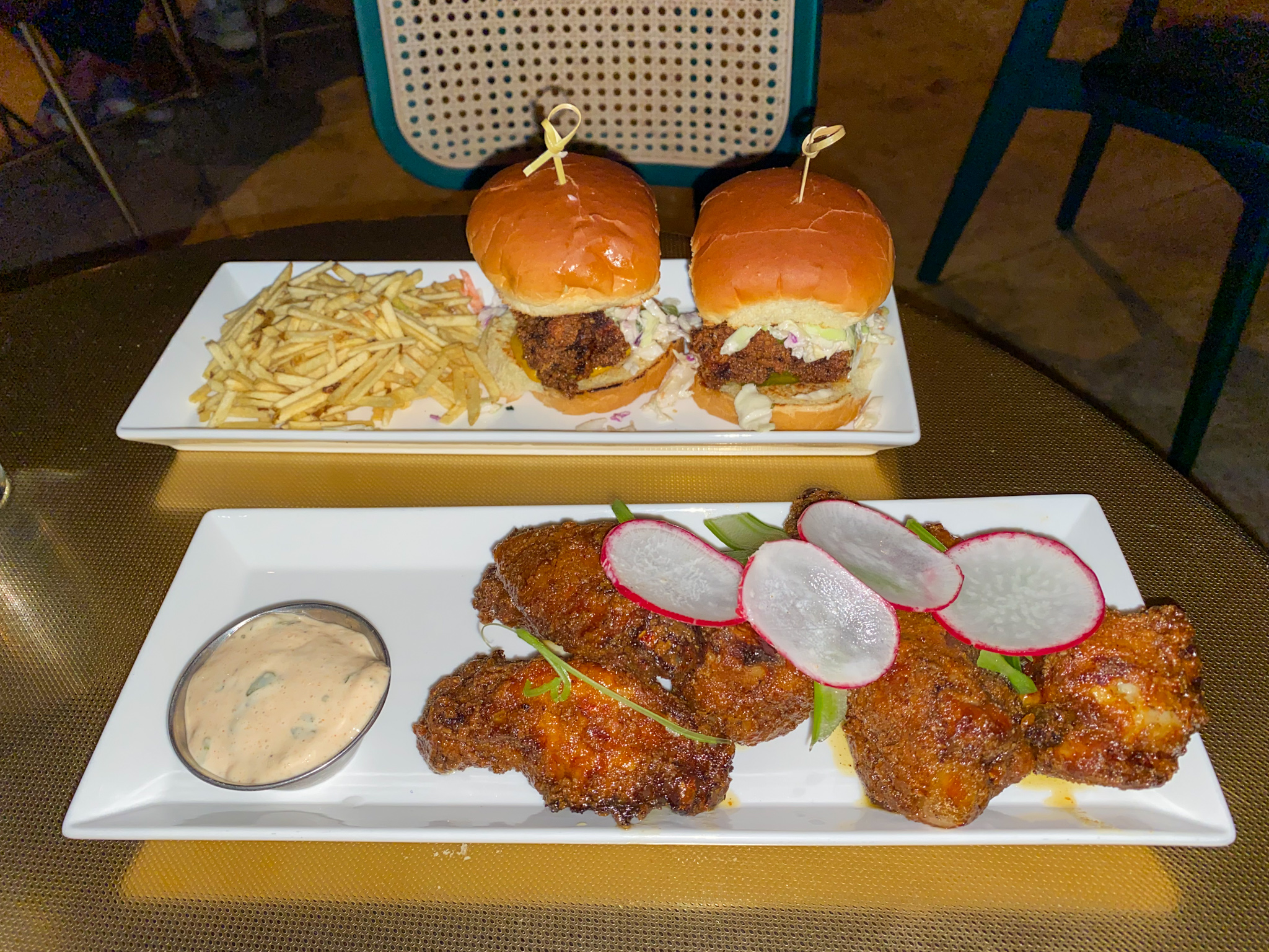 Bar Chica Twice Fried Wings and Chicken Sliders