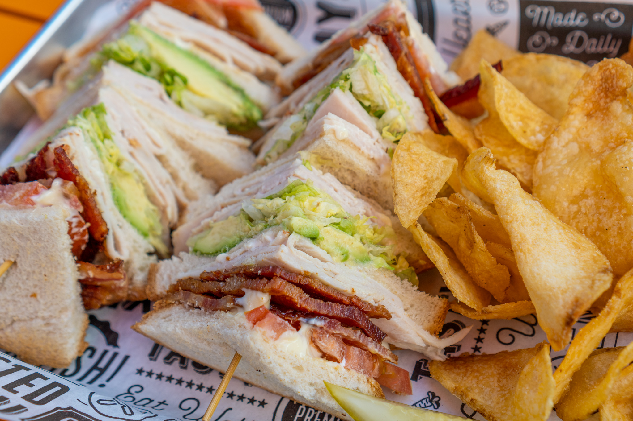 Salty's Sandwich Bar Cali Turkey Avocado Club