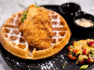Social Roost Chicken and Waffles