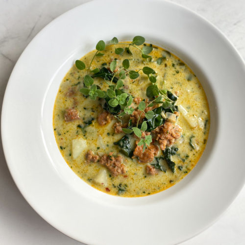 Zuppa Toscana ready to serve