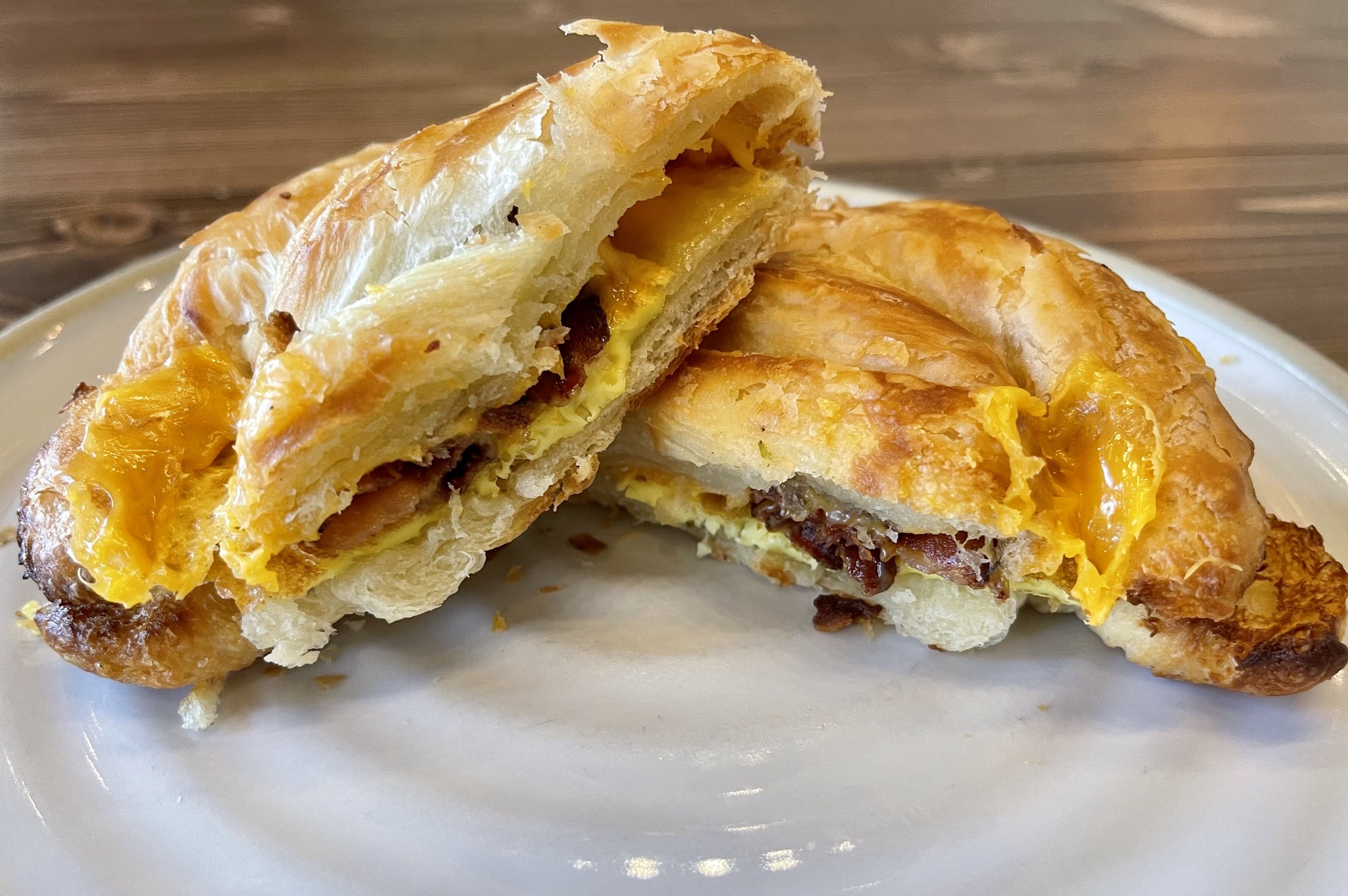 Driftwood Kava & Coffee Roastery - Breakfast Croissant with Bacon, egg and cheese