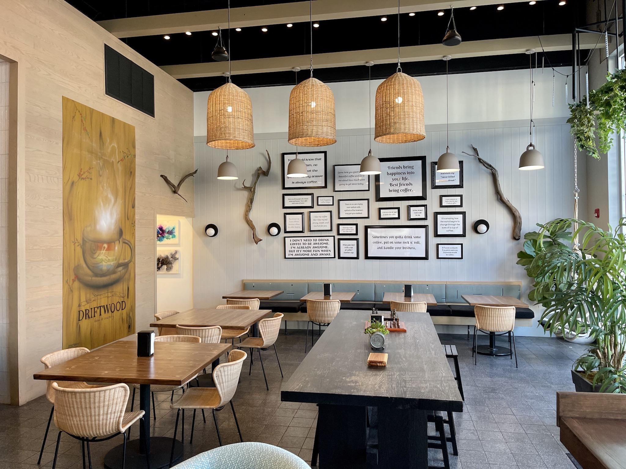 Driftwood Kava & Coffee Roastery - Rustic Interior