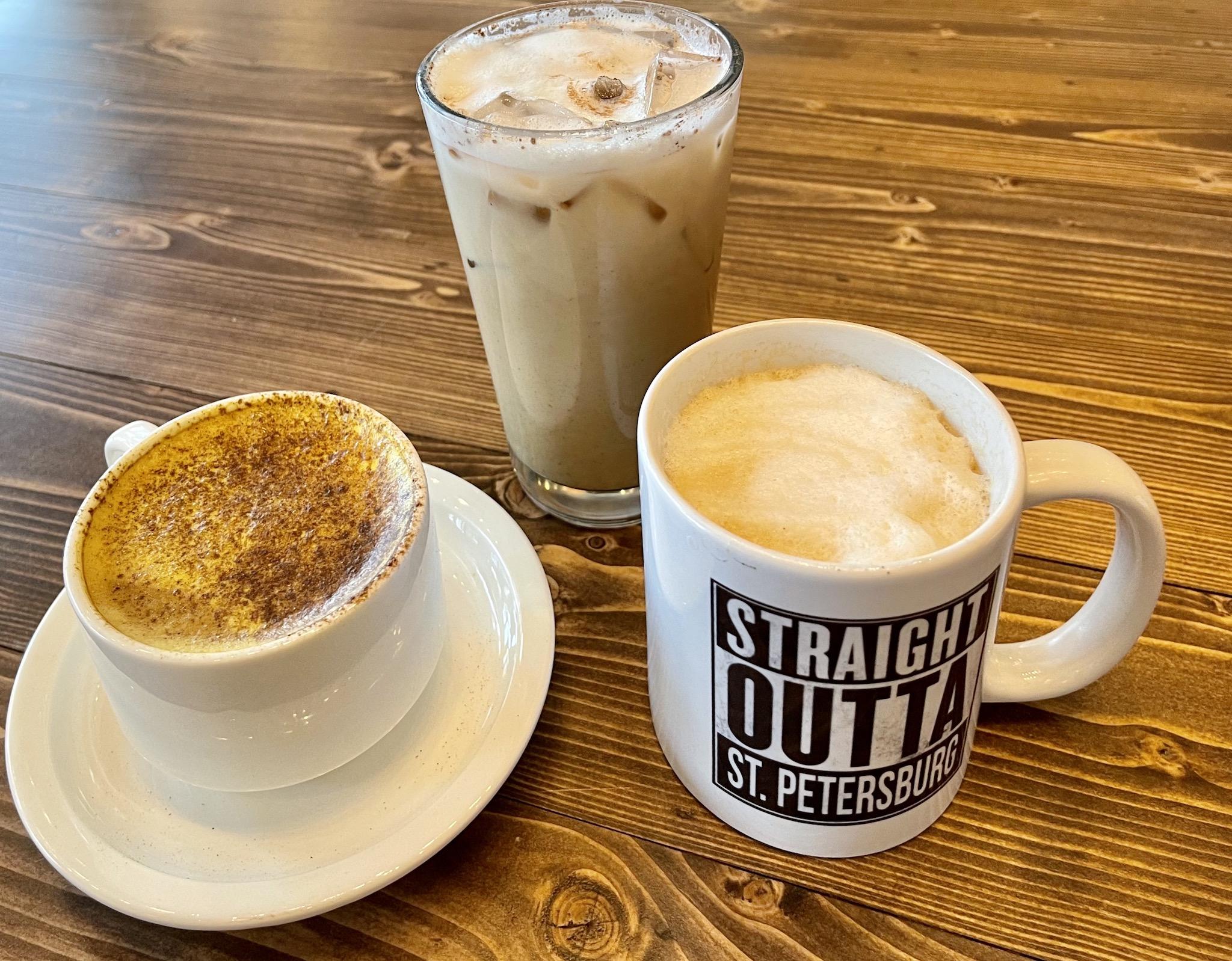 Driftwood Kava & Coffee Roastery - Three specialty drinks
