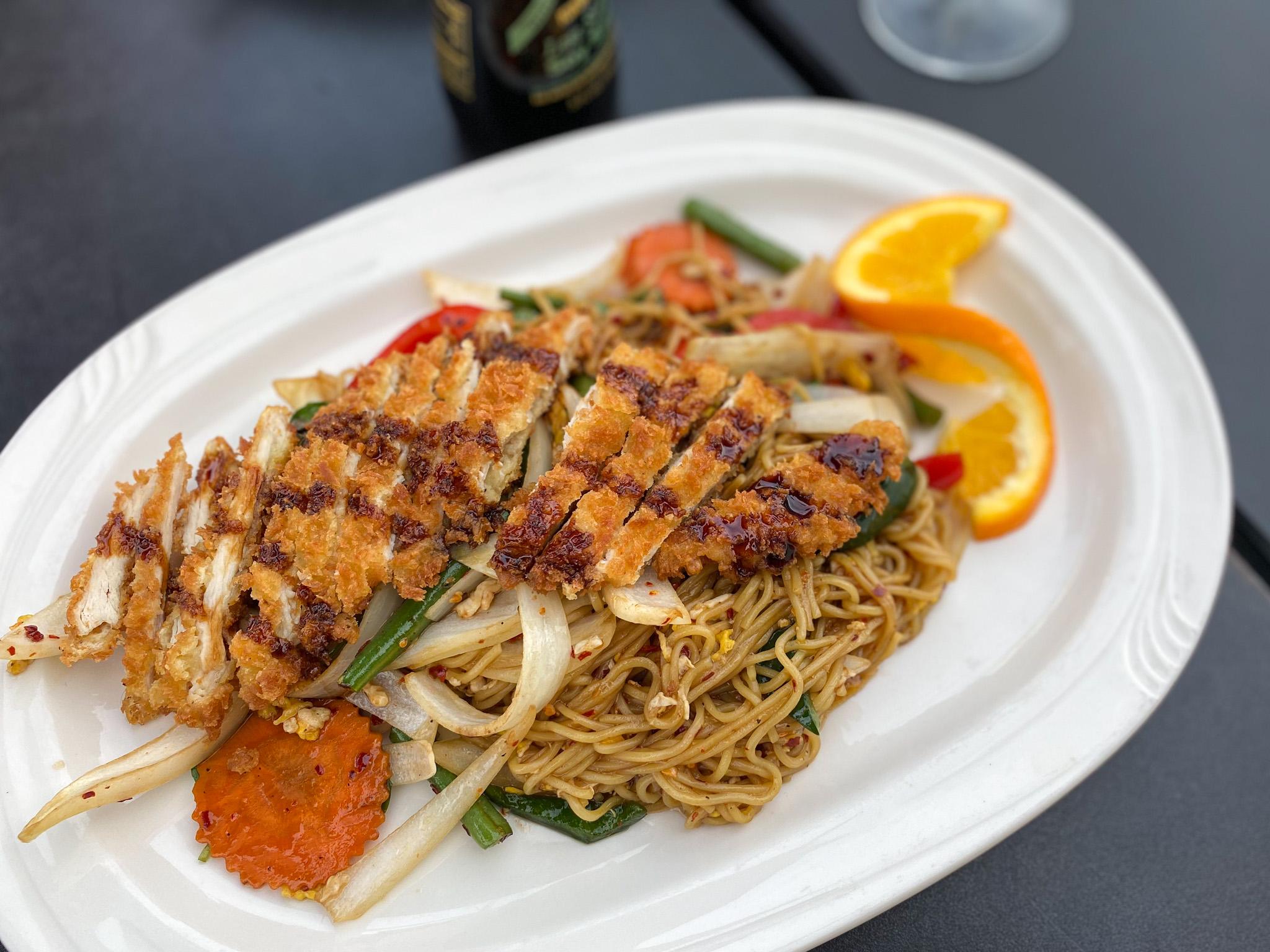 Kee Mao Ramen Noodle Wok with Chicken Katsu