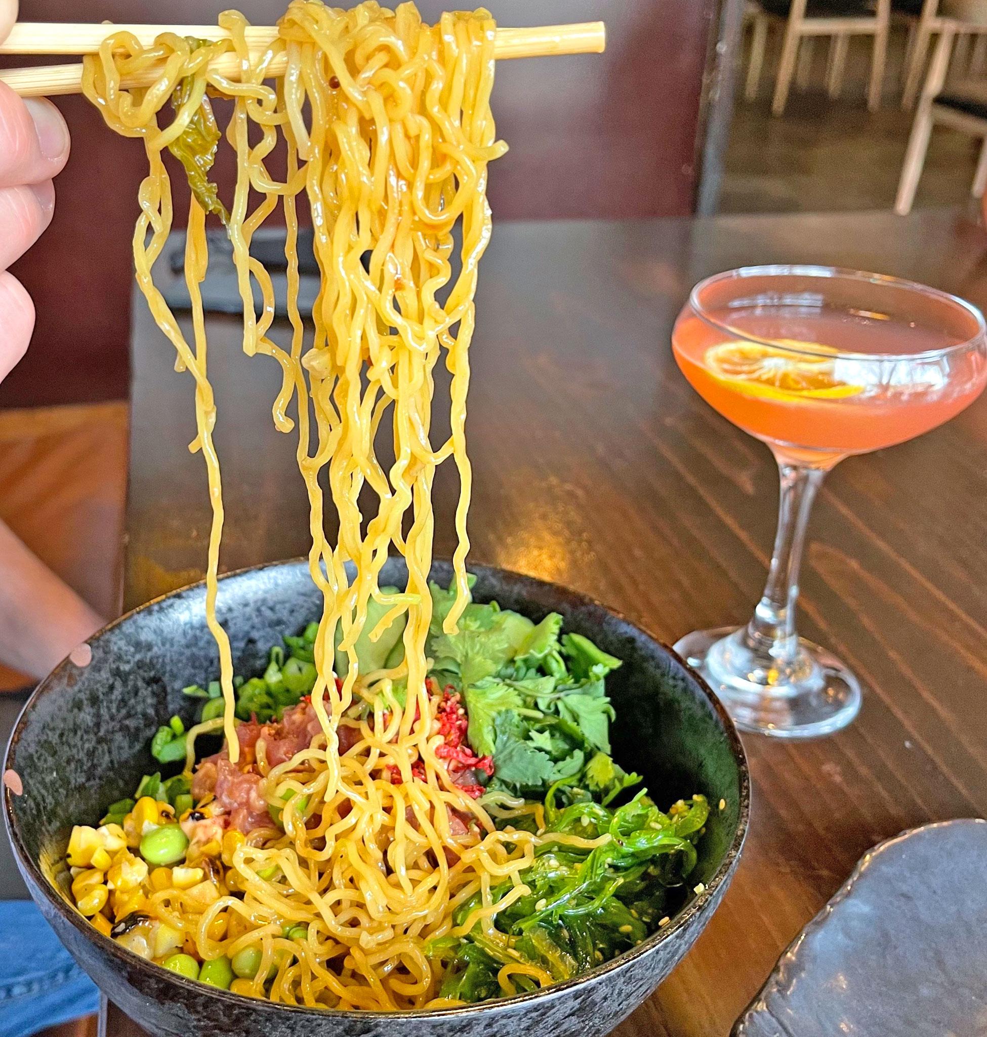 Oodles of Noodles in the Ahi Poke Chilled Ramen Salad