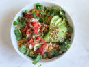 Strawberry-Balsamic Chicken with Crispy Rice & Watercress Recipe