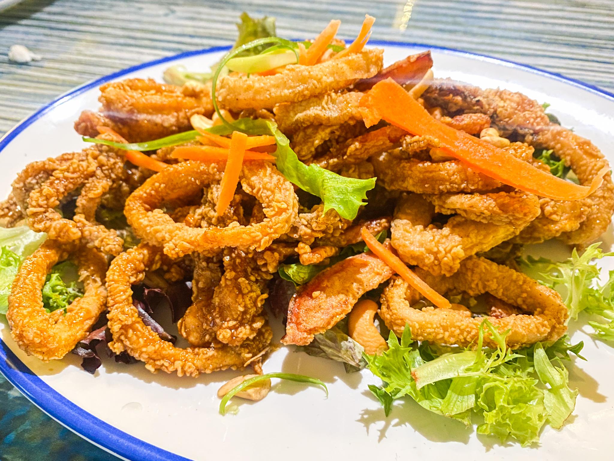 Buoys Waterfront Bar and Grill Kung Pow Calamari