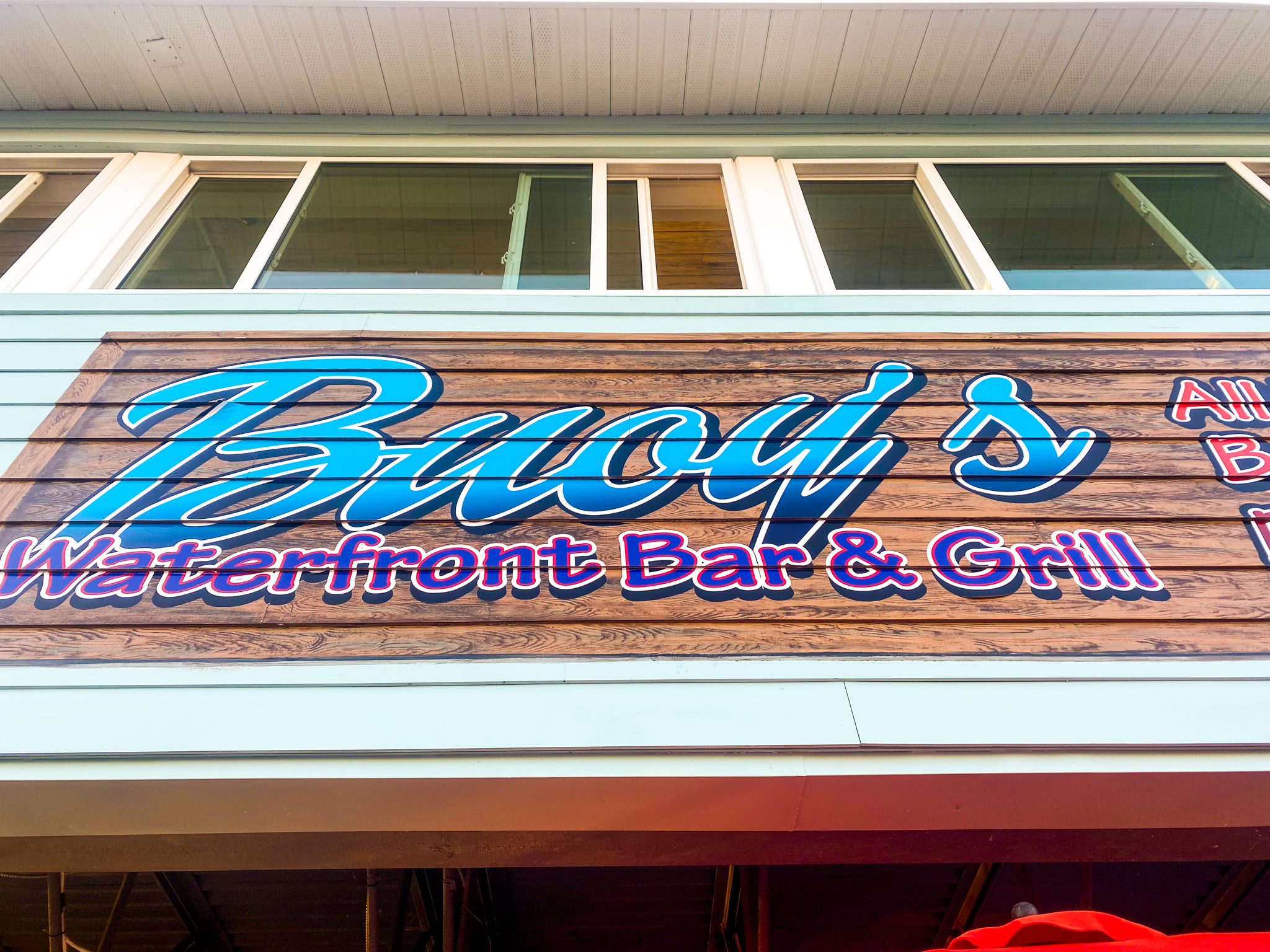 Buoys Waterfront Bar and Grill Sign