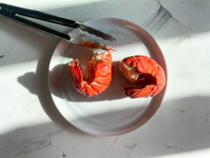 Cooked lobster tails