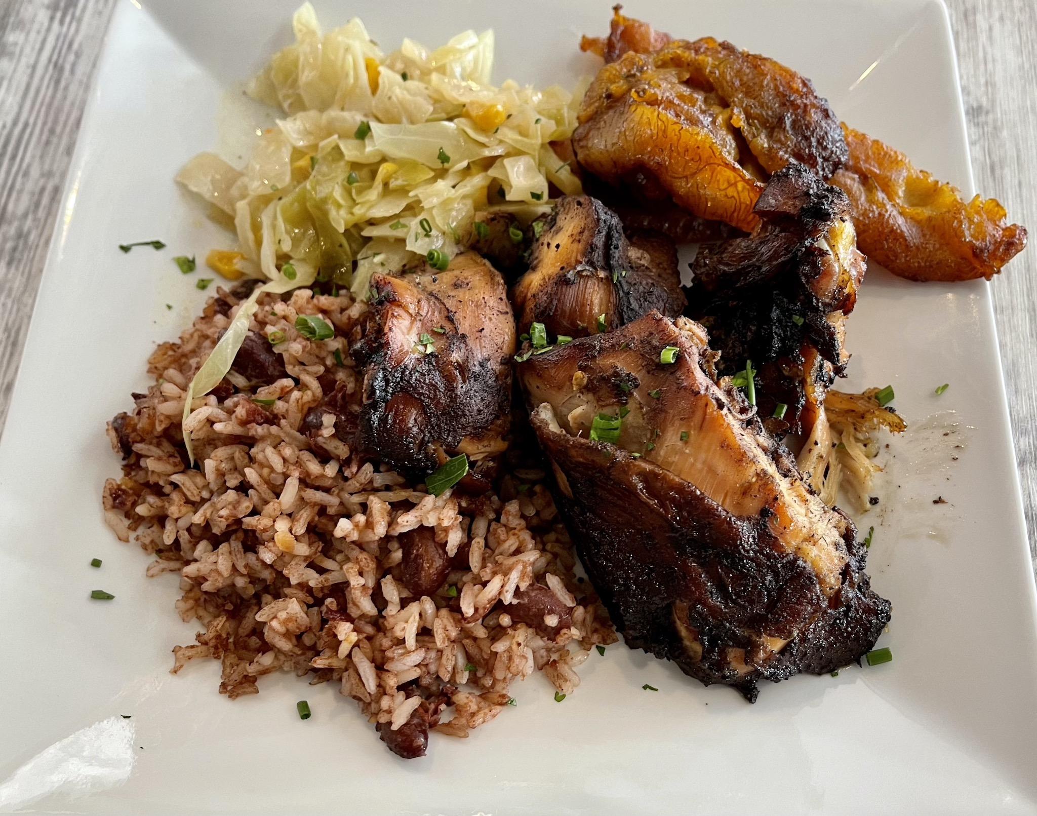 Irie Mon Jamaican Grill Jerk Chicken Platter